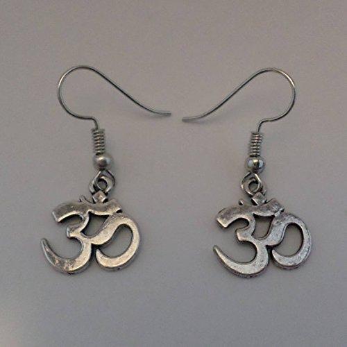 Meditation Ohrringe - OM/antik silber/Buddhismus Schmuck/Entspannung/Meditieren