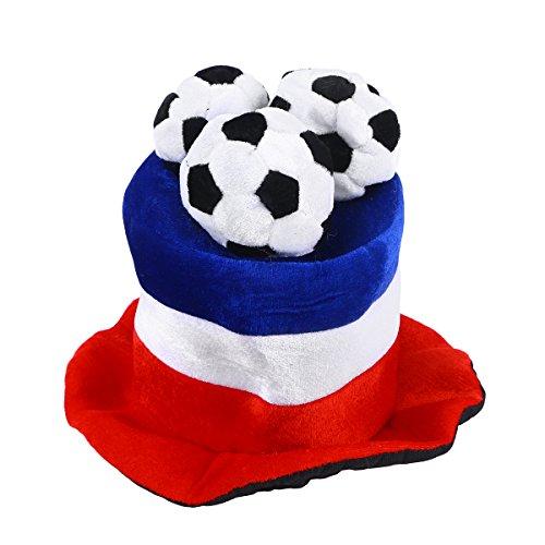 BESTOYARD Fußball Fan Hut Mütze mit Flaggen Fußball Party WM-Hüte Kappen Fußballhut Frankreich