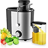 Bagotte Juice Extractor Fruit and Vegetable Juice Machine Wide Mouth Centrifugal Juicer, Easy Clean Juicer, Stainless Steel, Dual-Speed, 600w, BPA-Free