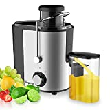 Juicer, Bagotte Juicers Whole Fruit and Vegetable Easy Clean, Stainless Steel Juicer Machine with Wide Mouth, 600w, BPA-Free