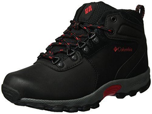 Columbia Jungen Youth Newton Ridge Trekking-& Wanderhalbschuhe Schwarz (Black/ Mountain Red)