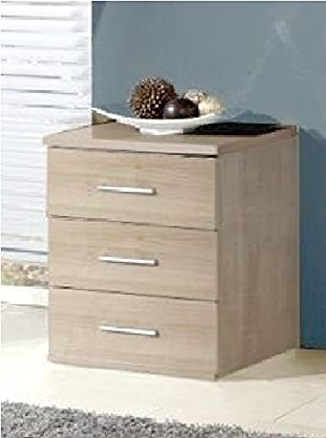 Germanica™ MUNICH Matching Chest Of Drawers In a Choice of 3 Colours and 3 Sizes (Washed Oak Bedside Drawer)