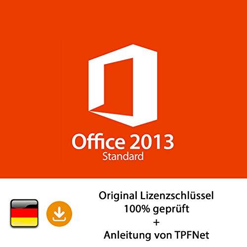 MS Office 2013 Standard 32 bit & 64 bit Vollversion Original Lizenzschlüssel per Post und E-Mail + Anleitung von TPFNet® - Versand maximal 60Min (Office 2013 Key)