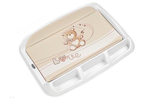 Brevi 006 Tablet Fasciatoio con Portaoggetti, Tortora