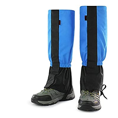 LOKEP 1 Pair Unisex Waterproof Windproof Oxford Snow Gaiters Lightweight & Durable Leggings Cover Snowproof Anti-tear High Leg Gaiters for Adult & Kids Outdoor Fishing Walking Hiking Hunting Climbing by LOKEP