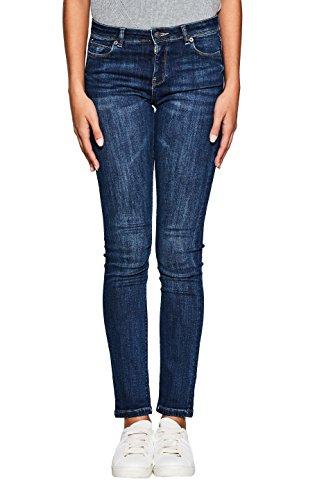 ESPRIT Damen Slim Jeans 107EE1B001 Blau (Blue Medium Wash 902), W27/L32