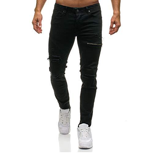 ELECTRI Jeans Déchiré Homme,Hommes Slim Dechiré Jean Biker Fashion Troué Sport Voyage Tout Droit Pantalons