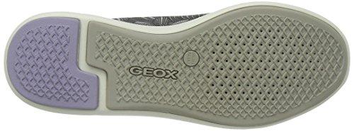 Geox Ophira A, Baskets Basses Femme Gris