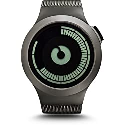 Ziiiro Saturn Gunmetal Design Digital Uhr Herrenuhr