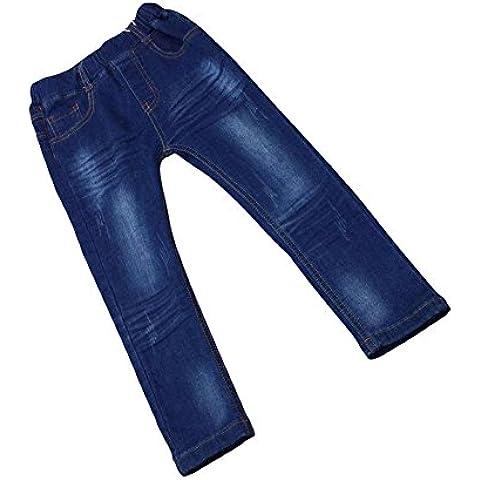 Zier Bambini Lungo Del Denim Dei Jeans Mutanda Casuale Pull Up Elastico Regolabile 33855