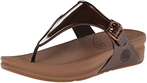 Fitflop Superjelly Tm, Infradito Donna, Marrone (Bronze), 39 EU