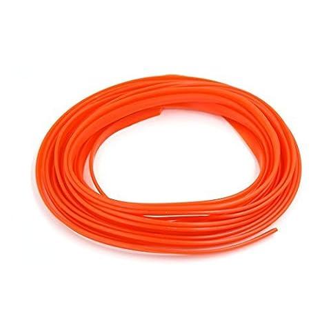 DealMux 5M x 7mm Automobil-Auto-Interieur Exterieur-Dekor-Moulding Trim-Streifenleiter orange