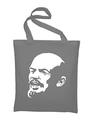 Lenin Sowjet Udssr CCCP Jutebeutel, Beutel, Stoffbeutel, Baumwolltasche, maroon Light Grey