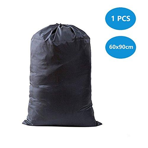 DoGeek-Bolsa de la colada portátil Bolsa de lavandería grande, con resistentes correas de hombro ajustables, bolsa para lavandería, tamaño gigante, con cordón para cerrar(1 pcs ,60 X 90cm )