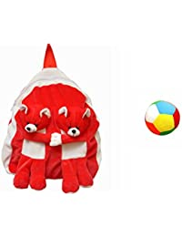 Jrp Mart Red Twins Bear Soft Toy Bag With Little Ball
