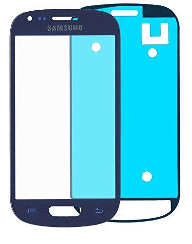 Galaxy S3 mini i8190, i8195 LCD Display Front Glas Glass Touch Screen Glas mit Klebefolie Blau ()