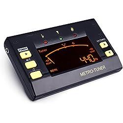 Afinador y Metrónomo Sintonizador Digital para Bajo