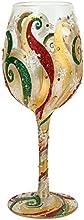 Enesco Lolita Vaso de Vino Belle vacaciones, cristal, multicolor, 12x 19x 22,5cm