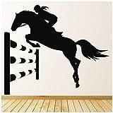 azutura Corsa di Cavalli Adesivo Murale Disponibile in 5 Dimensioni e 25 Colori Nero