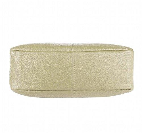 Made Italy, Borsa a spalla donna beige 33x25x12 cm (BxHxT) beige