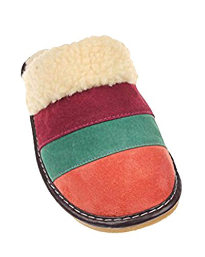 saideng-unisex-adulto-caldo-traspirante-antiscivolo-colore-splice-indoor-pantofole-arancia-verde-scu