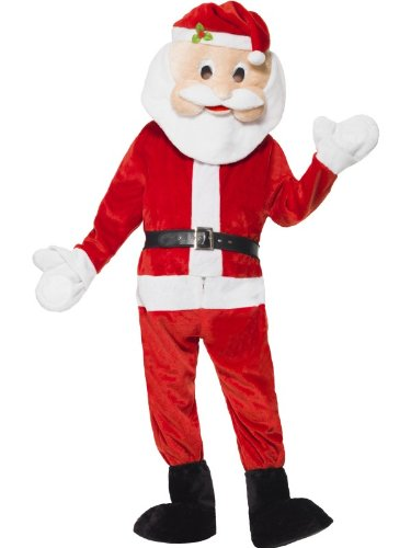 nta Maskottchen Kostüm Body Kofferraum erstreckt Gürtel und großen Maskottchen Kopf (Santa Maskottchen)
