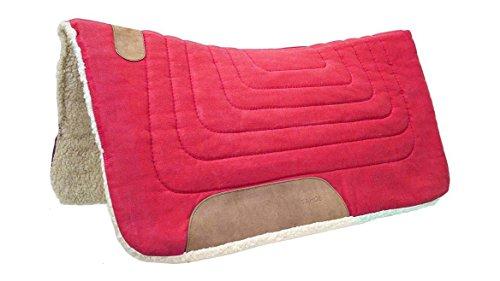 Tahoe Tack Konturenschnitt Leinwand Sattel Pad 81,3x 86,4cm rot -