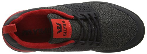 Supra Scissor, Baskets Basses Homme Noir - Schwarz (BLACK / RED - BLACK 052)