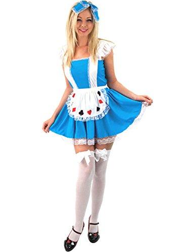 Ladies Sexy Alice in Wonderland Fancy Dress Fairytale Book Costume Medium