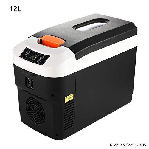 Auto Mini Kühlschränke-Einstellbare Temperatur, Kühlbox Thermoelektrische Camping Kühlschrank Lkw 24 V / 12 V / 220-240 (12 L / 15 L) Autokühler Reisen Und Camping ( Farbe : Schwarz , größe : 12L )