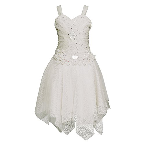 White World Baby Girls White Color Birthday Party wear Frock Dress_1.5 -...