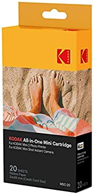 Kodak MC Mini-fotoprintercartridge, all-in-one papier en kleureninktcartridge, navulling, verpakking van 20 st