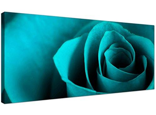 Wallfillers® - stampa artistica su tela, tonalità foglia di tè, tema: fiore di rosa, codice: 1109