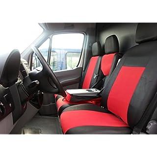 2+1 Sitzbezüge Sitzbezug Schonbezüge Schonbezug Bezüge Rot - Schwarz Hochwertig Polyester
