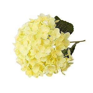 1 ramo de flores artificiales de Amesii, hortensias de seda con hojas; decoración ideal para bodas y manualidades