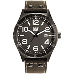 CAT Camden 43MM Men's Quartz Watch with Brown Dial Analogue Display and Brown Leather Strap NI.251.35.535