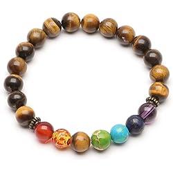 ILOVEDIY Pulsera de Piedra de Lava Buda Hamsa Charm de La Mano Healing Bracelet (#3)