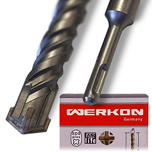SDS PLUS Bohrer 10mm Ø - Extra Lang 10x460 mm - Ideal zum schnellen Bohren in Beton - Hochwertige Hartmetall Spitze - Kein Einhacken in Armierungseisen