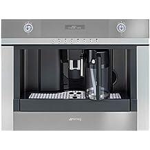 Smeg CMSC451 Integrado Totalmente automática Máquina espresso 1.8L 2tazas Acero inoxidable - Cafetera (Integrado, Máquina espresso, Acero inoxidable, Botones, LCD, 1,8 L)