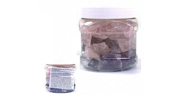 Edelsteine Wasser Set Grundmischung Rosenquarz Rohsteine 700g Bergkristall Amethyst
