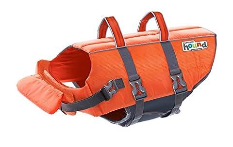 Outward Hound Kyjen 22020 Ripstop Dog Life Jacket Quick Release Easy-Fit Adjustable Dog Life Preserver, Medium, Orange