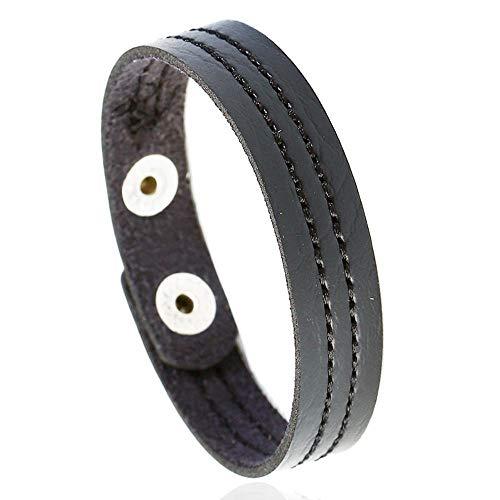 Irugh bracciale perline mano gioielli vacanza regalo in pelle bracciale computer ricamo mano anello maschile semplici