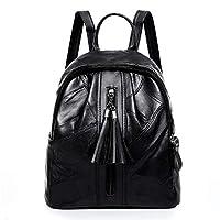 Jspoir Melodiz Leather Backpack for Women Large Capacity Black Soft Shoulder Bag Rucksack Handbag School Bags Casual Daypacks for Ladies Girls