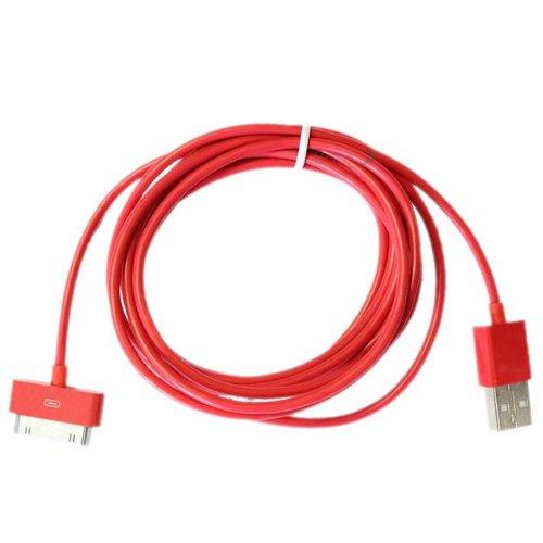 Prime Best 2 mètres 30 broches Câble USB / plomb (rouge) compatiable pour Apple Ipad3, iPad2, iPad 3G, 3GS, 4, 4S et séries Ipod