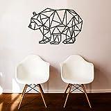 Oso geométrico Moderno Pegatinas de Pared para Nursery Kids Dormitorio calcomanías de vinilo decoración sala de estar decoración de arte murales56X84 cm