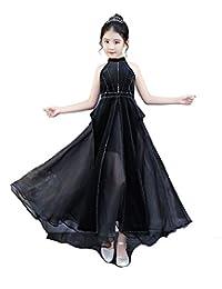Jxth Niños niñas Boda Prom Vestidos de Princesa Vestido de Fiesta de Boda  Negro para niños b6a63bd9a96