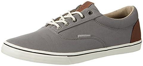 JACK & JONES Men's Jfwvision Mixed Low-Top Sneakers, Grey (Frost