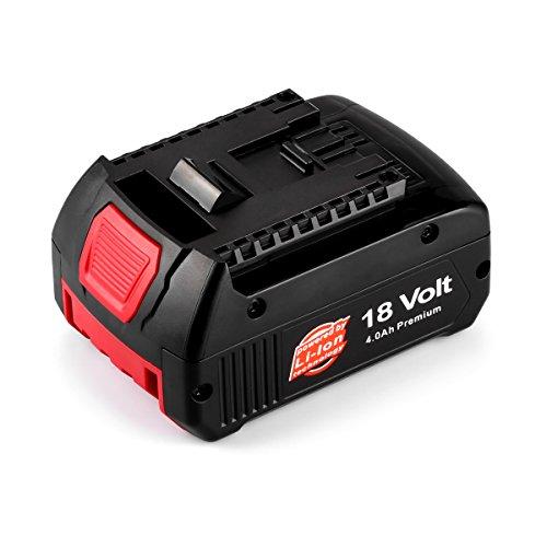 Energup 18V 4,0Ah Li-Ion Batterie pour Bosch Bosch BAT609 BAT609G BAT618 BAT618G BAT619 BAT619G