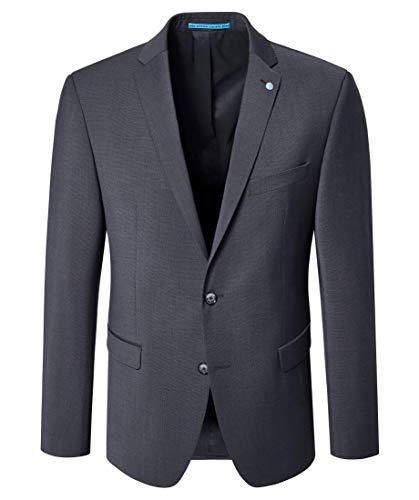 Pierre Cardin Herren Anzug Mix & Match Sakko Andre Futureflex Extra Stretch 24/7 Schwarz (Czarny 2000), Herstellergröße: 58 - Pierre Cardin Anzug
