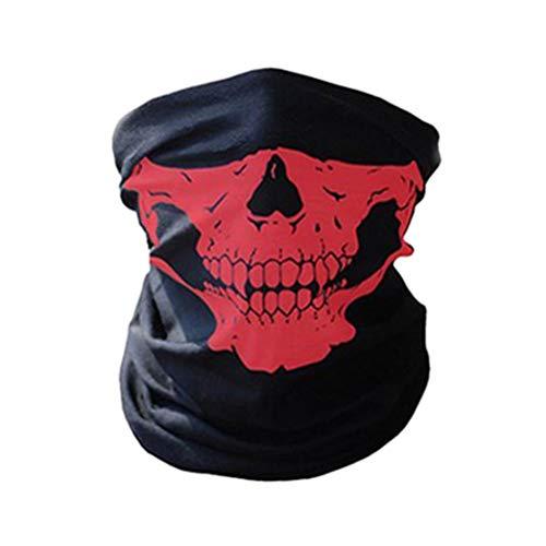 del Gesicht Schlauch Maske Motorrad Gesichtsmaske Multifunktionstuch Skull Face Mask Shield Gesichtsmaskefür Paintball/Fahrrad/Ski Snowboard/Wandern/Biking/Rave Maske ()